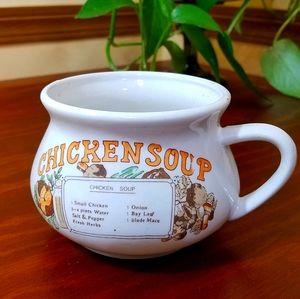 💥5/$25💥Chicken Soup Mug, Vintage